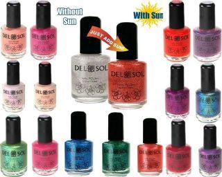 Del Sol Nail Polish Fingernail Color Changing Beautiful Colors Free