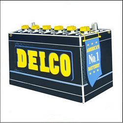Delco Batteries 2x2 Gas Vinyl Stickers Motor Oil Decals Signs Gas