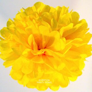 Dandelion Yellow Tissue Paper Pom Pom  You Choose Size