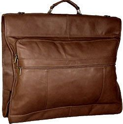 David King 42 Deluxe Leather Garment Bag w/ Exterior Pockets Luggage