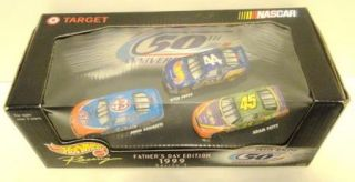 Fathers Day 1 64 3 Car Lot John Andretti Kyle and Adam Petty