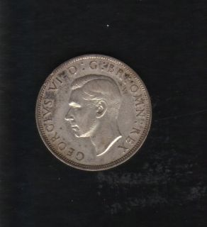 1941 KING GEORGE VI UNITED KINGDOM GREAT BRITAIN HALF CROWN COIN