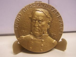 Civil War Admiral David Glasgow Farragut Medallic Art Hall Fame Great