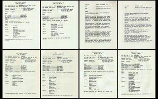 DARK SHADOWS Lot of 8 different scripts Jonathan Frid David Selby