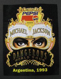 Michael Jackson Dangerous Tour Argentina Promo Sticker