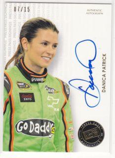 DANICA PATRICK 2013 Press Pass Autograph #7/15 Gold Signings Auto