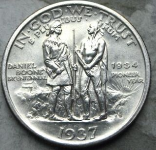 1937 s daniel boone commemoraive gem bu+ scarcer boone commemoraive