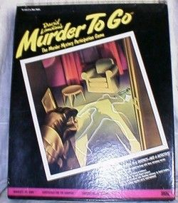 Host A Murder to Go Role Play 3 Party Games 1985 Unused