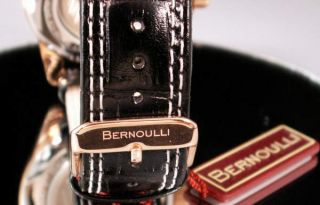 New Bernoulli Automatic Mens Dual Time Watch $989 MSRP
