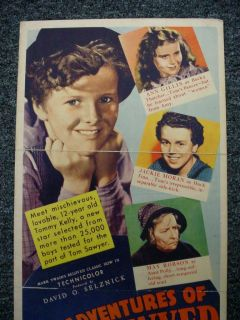 Tom Sawyer Orig Movie Poster 14x36 Insert Selznick Max Steiner