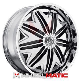 Set of 4 New 22 Davin PWRFL Spinners 22x8.5 5x108/114 +38 Wheels Rims