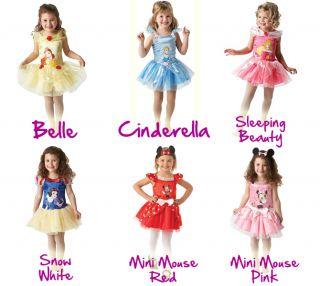 New Disney Princess Girls Fancy Dress Costume Childrens Child Outfit 3