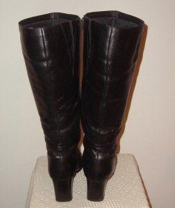 David Tate Womens Daytona 19 Black Leather Boots   Size 12 WW   Wide