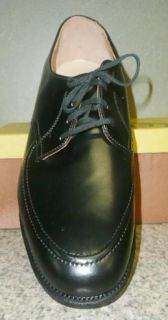 Vtg Mens Black Leather Oxford Dress Casual Shoes Hi Quality Welt