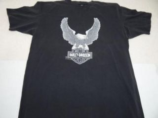 Vtg Harley Davidson Dealer T Shirt 80s Eagle Westminster California XL