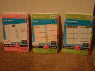 Day Timer Planner Refill Size 4 2 Page Per Week Pink Ribbon Jan 2013