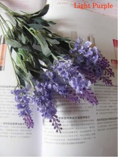 Artificial Lavender Silk Flowers Violet Arrangement Home Decor Dark