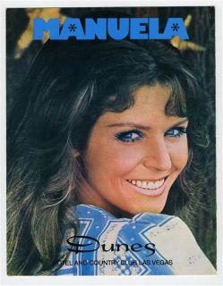 Danny Thomas Dinner Show Menu Dunes Hotel Las Vegas Manuela 1970S