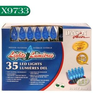 Danson Decor LED Indoor Outdoor 35 Lights Set C6 Blue X9733 Christmas