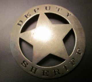 Deputy Sheriff Badge Authentic Old West Circle Star Pin
