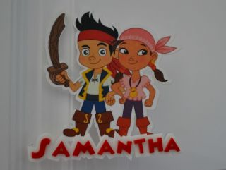 Izzy and Jake Neverland Pirates Personalized Cake Topper or Any