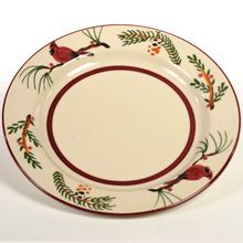 Cardinal Hartstone Pottery Dinner Plate~Handcrafted & Hand Painted in