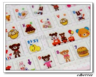 Pattern Cool Notebook Desktop Laptop Keyboard PVC Stickers New