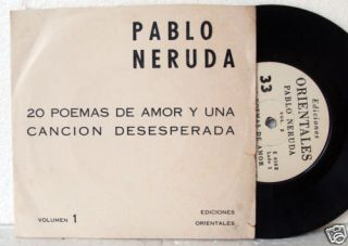 Pablo Neruda 20 Poemas de Amor by Himself 7 Poetry