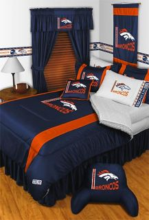 New NFL Denver Broncos Full Queen Bedding Comforter Set