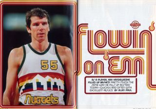 RARE DENVER NUGGETS #55 KIKI VANDEWEGHE NBA Basketball Jersey Size 56