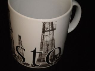 Starbucks Coffee Mug City Mug Houston Texas Rare Oil Derricks 20oz Cup