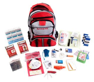 Deluxe Emergency Survival Kit First Aid 1 Person Backpack