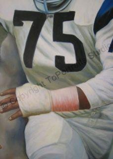 Deacon Jones Los Angeles Rams Canvas Card Oil Painting