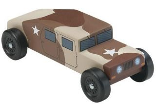 Military Racer Pinewood Derby Car Kit Revell Humvee 97773