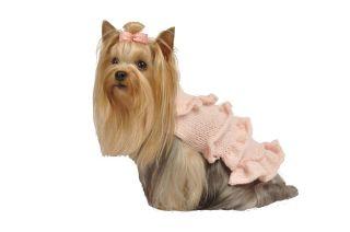 Maxs Closet Pet Dog Clothing Designer Dog Sweater Pink Yorkie Poodle