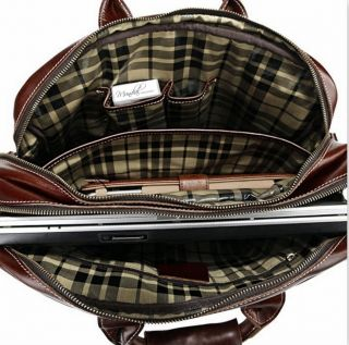 Luxurious Leather Messenger Bag Briefcase Laptop Bag