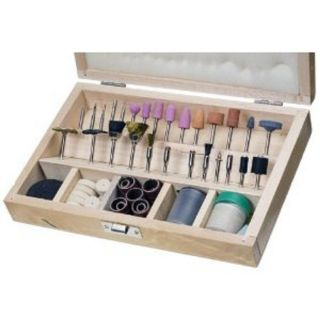 228 pc. Rotary Tool Accessories Set w/ Wooden Case (Fits DREMEL)*SHIPS