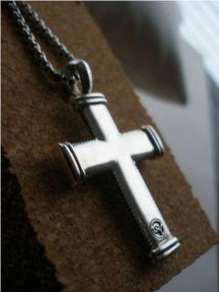 David Yurman Sky Cross Sterling Silver Necklace 22 Box Chain $650