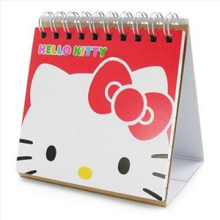 Hello Kitty Mini Desk Calendar Planner Face Red Sanrio