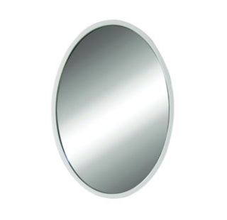 DecoLav 9716 Wht White Lola 22 Oval Wall Mirror with Solid Wood Frame