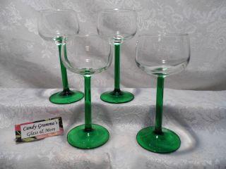 Luminarc Emerald Green Stem Dessert Wine Glass Set of Four