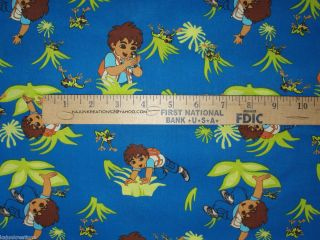 Go DIEGO Go NICKELODEON CARTOON character Cotton Fabric to SEW your