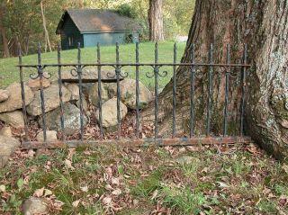 Antique Cast Iron Fence Architectural Yard Decorative Arts