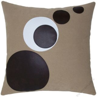 new decorative throw pillow cover 18 sq chocolate orbits throw pillow