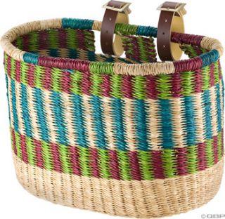 house of talents oblong bike basket warm color