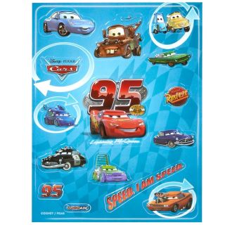15 Disney Cars Lightning McQueen Mater Decorative 3D Wall Party Raised