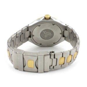Mens Steel 18K Gold Plated Omega Seamaster Quartz 200M Watch 396 1062