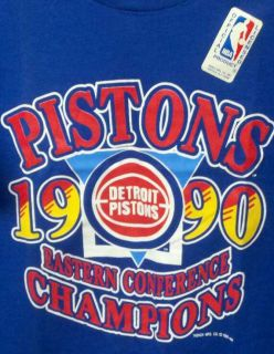 1990 DETROIT PISTONS Championship t Shirt L BAD BOYS Basketball team