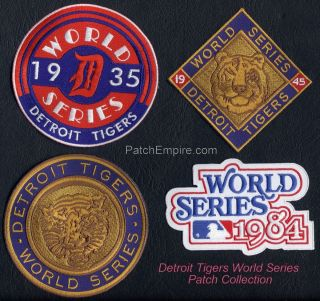 Detroit Tigers World Series Patch Collection BONUS PATCH IF YOU USE
