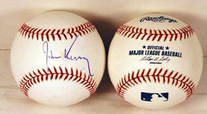 Senator John Kerry Signed Autograph MLB Baseball COA